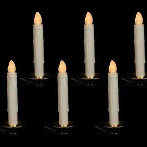 S/6 Illuminated Tree Candle Clips